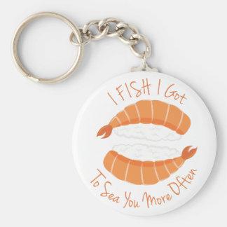 I Fish Key Ring