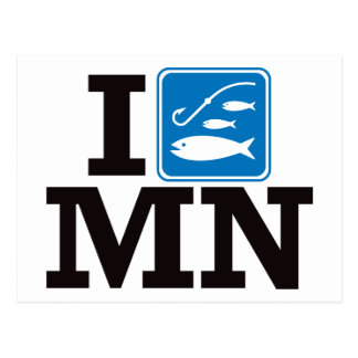 I Fish Minnesota - MN Postcard