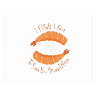 I Fish Postcard