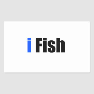 i Fish Rectangular Sticker