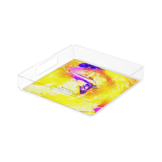 I Fix My Eyes To You JESUS Acrylic Tray