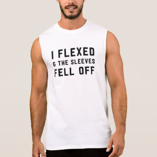 I flexed and the sleeves fell off fitness lifting sleeveless shirt
