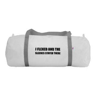 I Flexed Sleeves Stayed Gym Duffel Bag
