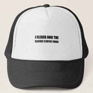 I Flexed Sleeves Stayed Trucker Hat