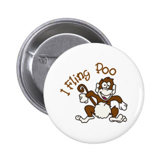 I Fling Poo 6 Cm Round Badge