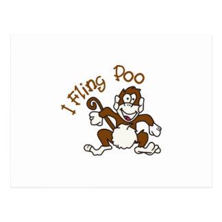 I Fling Poo Postcard