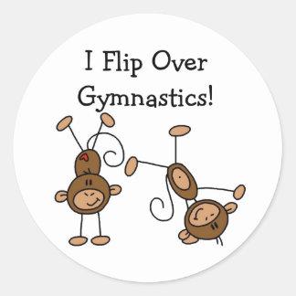 I Flip Over Gymnastics Tshirts and Gifts Classic Round Sticker