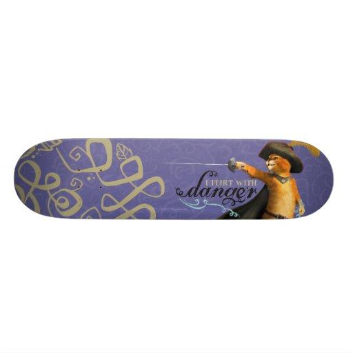 I Flirt With Danger (color) Skate Boards