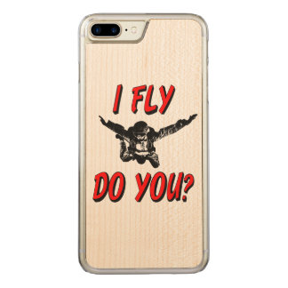 I Fly, Do You? (blk) Carved iPhone 8 Plus/7 Plus Case