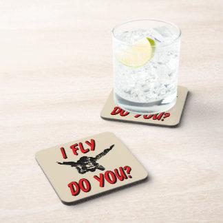 I Fly, Do You? (blk) Coaster