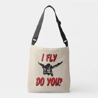 I Fly, Do You? (blk) Crossbody Bag
