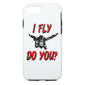 I Fly, Do You? (blk) iPhone 8/7 Case