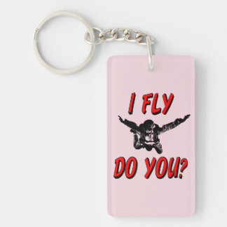 I Fly, Do You? (blk) Key Ring