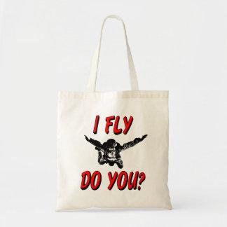 I Fly, Do You? (blk) Tote Bag