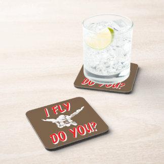 I Fly, Do You? (wht) Coaster