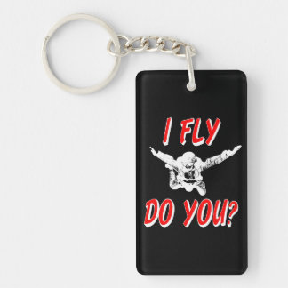 I Fly, Do You? (wht) Key Ring