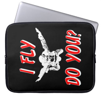 I Fly, Do You? (wht) Laptop Sleeve
