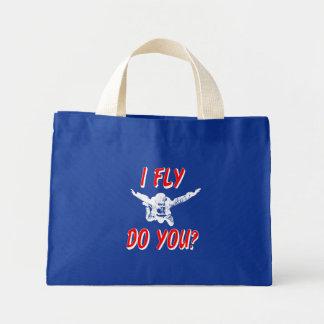 I Fly, Do You? (wht) Mini Tote Bag