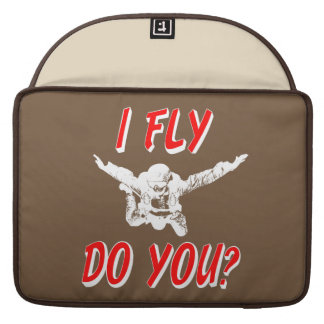 I Fly, Do You? (wht) Sleeve For MacBooks
