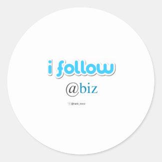 i follow @biz round stickers