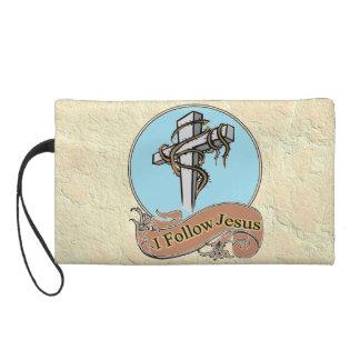 I follow Jesus Wristlet Clutch