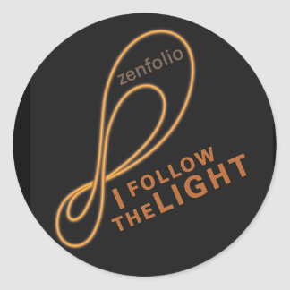I follow the light sticker