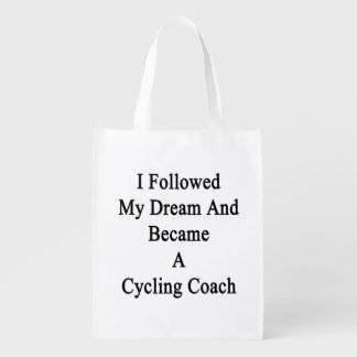 I Followed My Dream And Became A Cycling Coach Grocery Bags