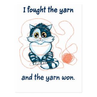 I Fought The Yarn Postcard