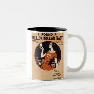 I Found A Million Dollar Baby Vintage Songbook Cov Two-Tone Coffee Mug