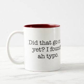 I found a typo mugs