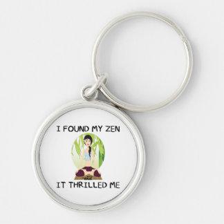 """""""I Found My Zen"""" Basic Button Keychain"""