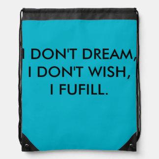I Fufill - Drawstring Backpack