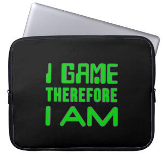 """I Game Therefore I AM 15"""" Laptop Sleeve"""