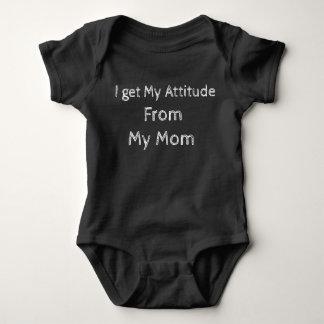 I get my attitude from my mom baby bodysuit