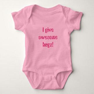 I give awesome hugs baby bodysuit