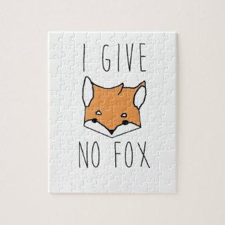 I Give No Fox Jigsaw Puzzle