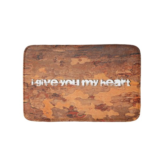 I give you my heart Lm Bath Mat