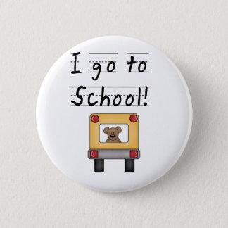 I Go To School 6 Cm Round Badge
