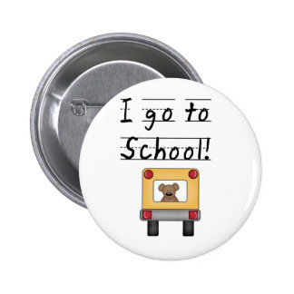 I Go To School 6 Cm Round Badge