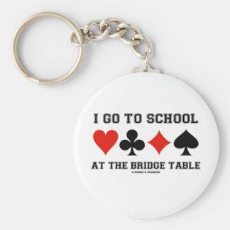 I Go To School At The Bridge Table (Bridge Humor) Key Chain