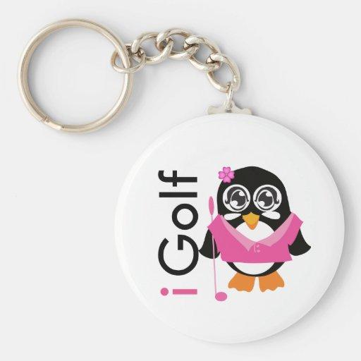 i Golf Penguin Key Chains