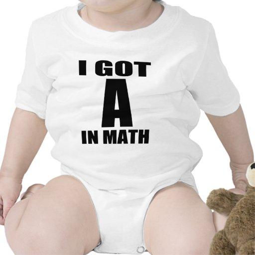I Got A In Math Tshirts