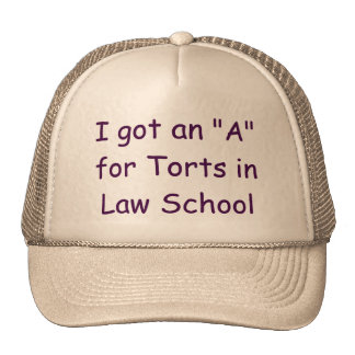 I got an A in Torts Judge Hat