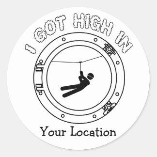 I Got High - Zipline Classic Round Sticker