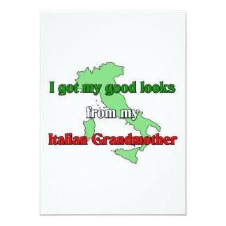 I got my good looks  from  my Italian grandmother Card