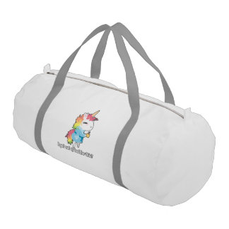 I got out of bed for this? Snarkles the Unicorn Gym Bag