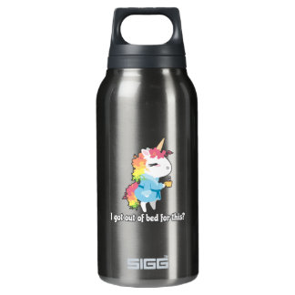 I got out of bed for this? Snarkles the Unicorn Insulated Water Bottle