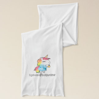 I got out of bed for this? Snarkles the Unicorn Scarf
