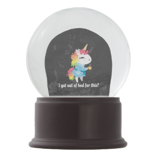 I got out of bed for this? Snarkles the Unicorn Snow Globe