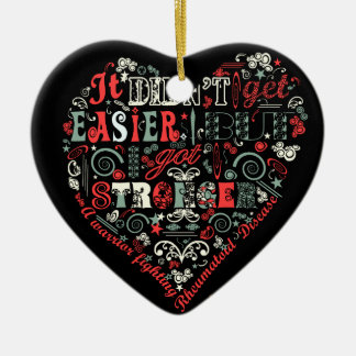 I got stronger heart ceramic heart decoration